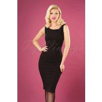 50s Carina Classic Pencil Dress In Black