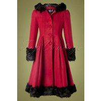 30s Elvira Coat In Burgundy