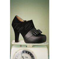 50s Angie Take A Bow Shoe Booties In Black