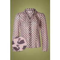 60s Elspeth Swans Blouse In Pink