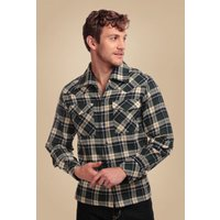 50s Tiago Woodsman Check Blouse In Navy