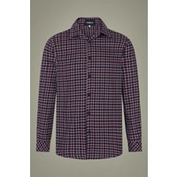 40s Hunter Check Blouse In Wine