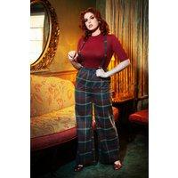40s Glinda Westie Check Trousers In Multi