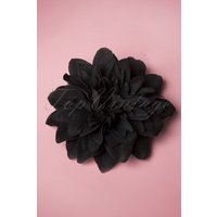 50s Flower Hair Clip & Brooch In Black