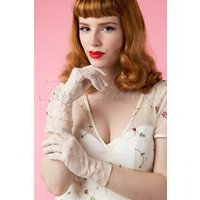 50s Lady Mary Galant Cream Lace Gloves