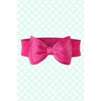 50s Bella Bow Belt In Pink