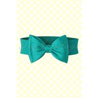 50s Wow To The Bow Belt In Teal Blue