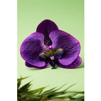 50s Bring Me Purple Orchids Daily Hair Clip