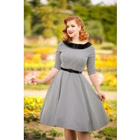 40s Jackson Houndstooth Dress In Black And White