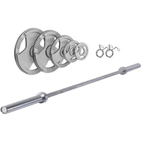 Ironman 160kg Olympic Tri-grip Hammerton Weight Set with 86