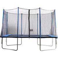 Air King Jump 8x12ft Rectangular Trampoline with Safety Enclosure