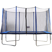 Air King Jump 7x11ft Rectangular Trampoline with Safety Enclosure