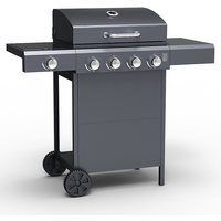 Embermann Grill Master 4 Burner Barbecue with Side Burner