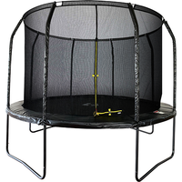 Air League 10ft Powder Coated Trampoline with Enclosure Black