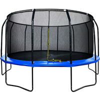 Air League 16ft Powder Coated Trampoline & Enclosure Blue