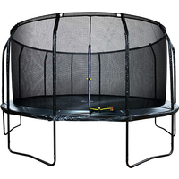 Air League 16ft Powder Coated Trampoline & Enclosure Black