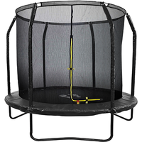Air League 8ft Powder Coated Trampoline with Enclosure Black