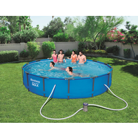 BestWay 14ft x 33inch Steel Pro Max™ Above Ground Swimming Pool With Filter