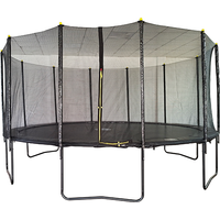 Air Dog 16ft Powder Coated Trampoline with Safety Enclosure