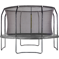 Air League 14ft Powder Coated Trampoline with Enclosure Black