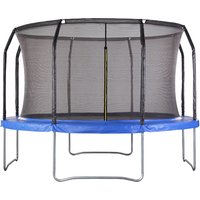 Air League 12ft Powder Coated Trampoline with Enclosure Blue