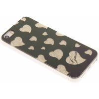 iPhone 5S-SE Guess Hearts Cover Zwart