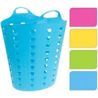 Wäschekorb flexibel 60 Liter Pink / Gelb / Grün / Blau von Koopman