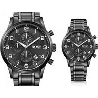 Tick tock! This black chronograph Hugo Boss Aeroliner watch deal won't be around forever! - Hugo Boss Gifts