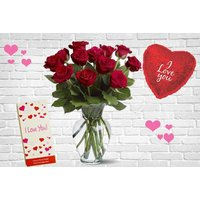 £18 for a Valentine's Day bouquet of six red roses, or from £24 for 12 red roses from Flowers Delivery 4 U - upgrade to treat that special someone to chocolates or a balloon too and save up to 50% - Valentines Day Gifts