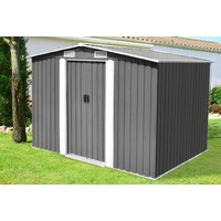 a large metal storage shed, £249 for an extralarge storage shed  choose from two colours and save up to 64%