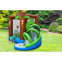 Get ready for a snappy good time with an action air crocodile inflatable bouncy castle with side play area! - Bouncy Gifts