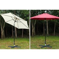 £29 instead of £65 (from MH Star) for a 2.7m patio parasol - choose from 3 colours and save 55% - Umbrella Gifts