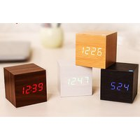 Wake up in style with a wood-effect LED alarm clock - choose from four colours! - Alarm Clock Gifts