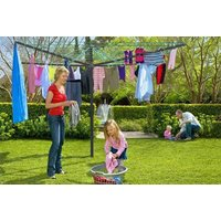 a 50metre rotary washing line and clothes airer  save 62%