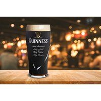 £5.99 instead of £9.95 (from CNC Group) for a personalised engraved Guinness pint glass - save 40% - Guinness Gifts