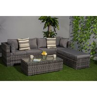 £389 instead of £770 (from Dreams Outdoors) for a durable polyrattan three-in-one function garden corner sofa set and cover - choose black, brown or grey and save 49% - Outdoors Gifts