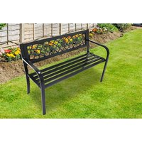 £39 instead of £90 (from Vivo Mounts) for a black lattice-patterned metal garden bench - save 57% - Bench Gifts