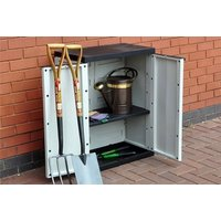 Keep all your garden tools protected with a weatherproof plastic garden storage cabinet! - Tools Gifts