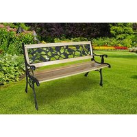 Deck out your garden witha a rose design three seater wooden garden bench - save 51% - Bench Gifts
