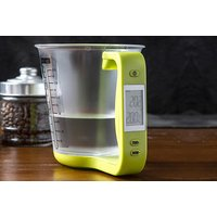Measuring's never been so easy with a smart digital electronic measuring cup kitchen scale - choose between three colours! - Electronic Gifts