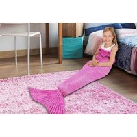 £7.99 instead of £17 (from Vivo Mounts) for a mermaid tail blanket - choose from two colours and save 53% - Blanket Gifts