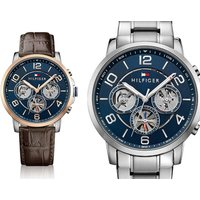 £119 instead of £231.17 (from Orphelia) for a Tommy Hilfiger blue dial men's watch – choose between two designs and save 49% - Tommy Hilfiger Gifts