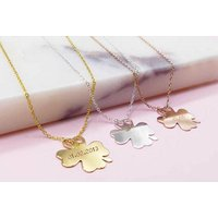 £16 instead of £79 (from Ah! Jewellery) for a personalised clover necklace - save 80% - Fashion Gifts