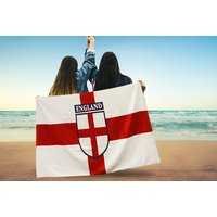 £7.99 instead of £29.99 for an england design beach towel from London Exchain Store - save 73% - Towel Gifts