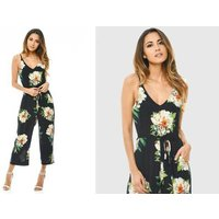 £11 instead of £29.99 (from Verso Fashion) for a floral-print navy jumpsuit - save 63% - Fashion Gifts
