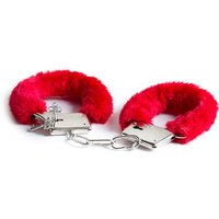 £3 instead of £9.99 for a pair of red fluffy handcuffs from London Exchain Store - save 70% - Fluffy Gifts