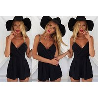 £9 instead of £23.99 (from Verso Fashion) for a black summer playsuit - save 62% - Summer Gifts