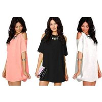 £8 instead of £24.99 (from Verso Fashion) for a boho off-shoulder mini dress - choose from three colours and save 68% - Fashion Gifts