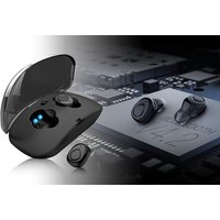 a set of Bluetooth wireless stereo earbuds  save 74%