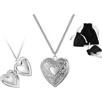 £5.99 instead of £15.99 for a Philip Jones heart locket necklace from Silver Supermarket Ltd - save 63% - Silver Gifts